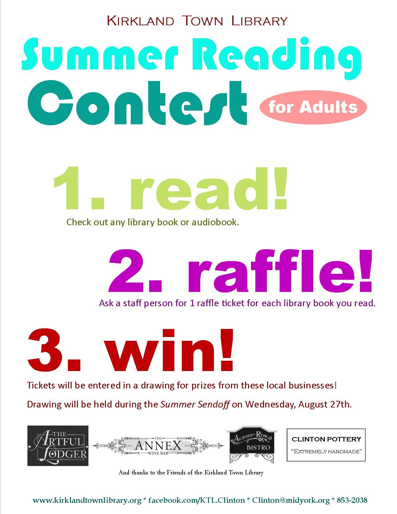 Enter the adult reading contest!