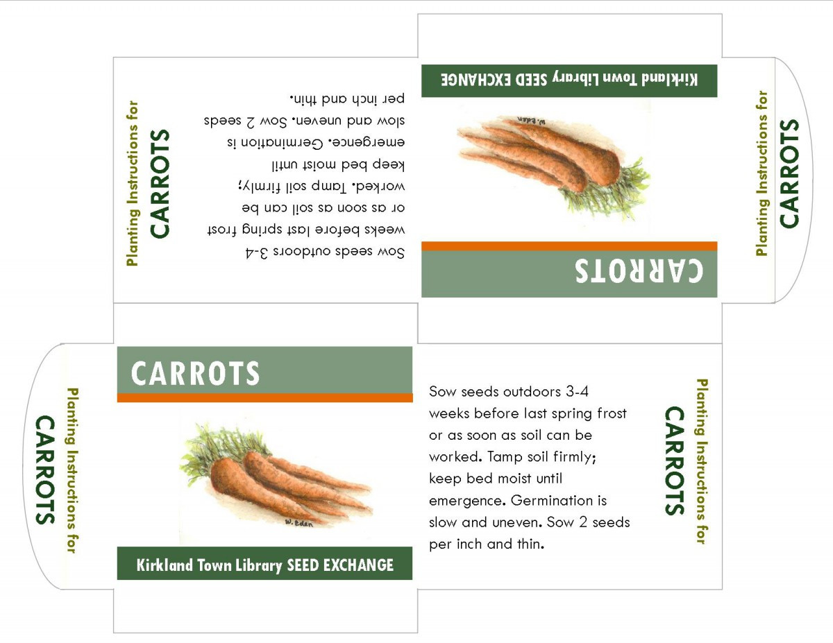 carrots seed packet