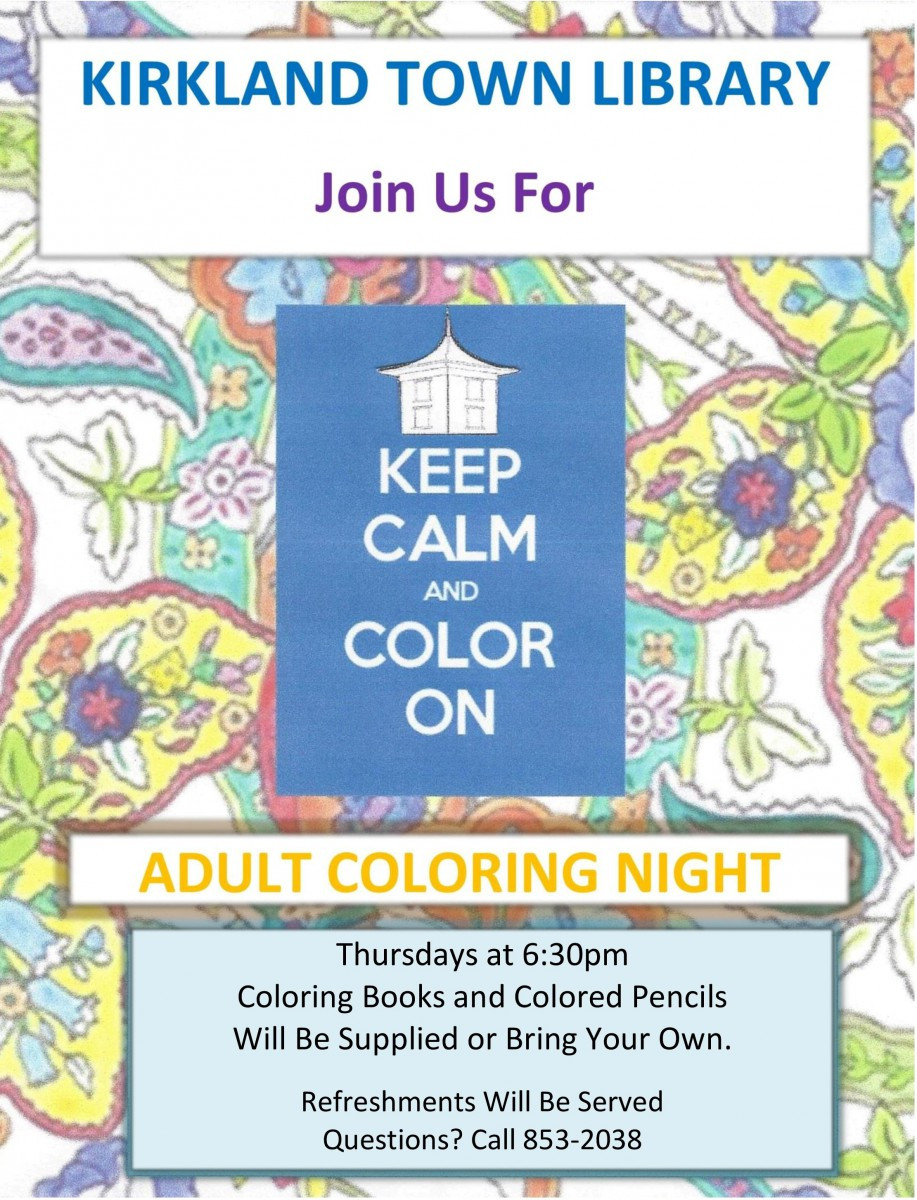 adult coloring - thursdays