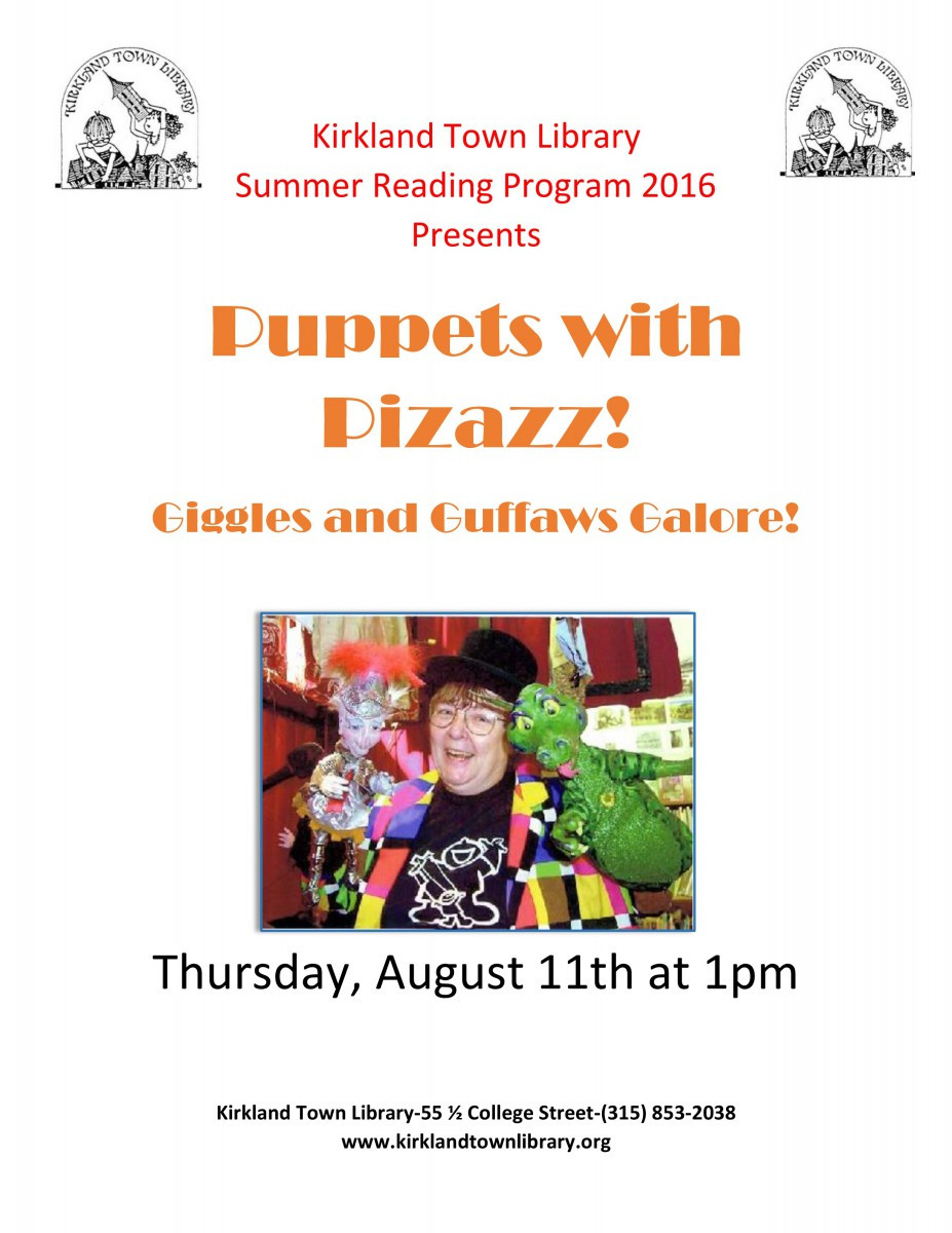 Puppets with Pizazz flyer