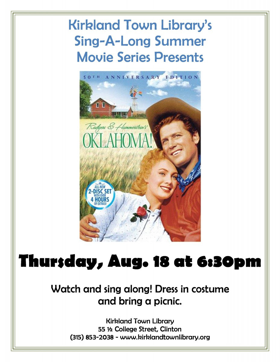 sing along summer movie - oklahoma
