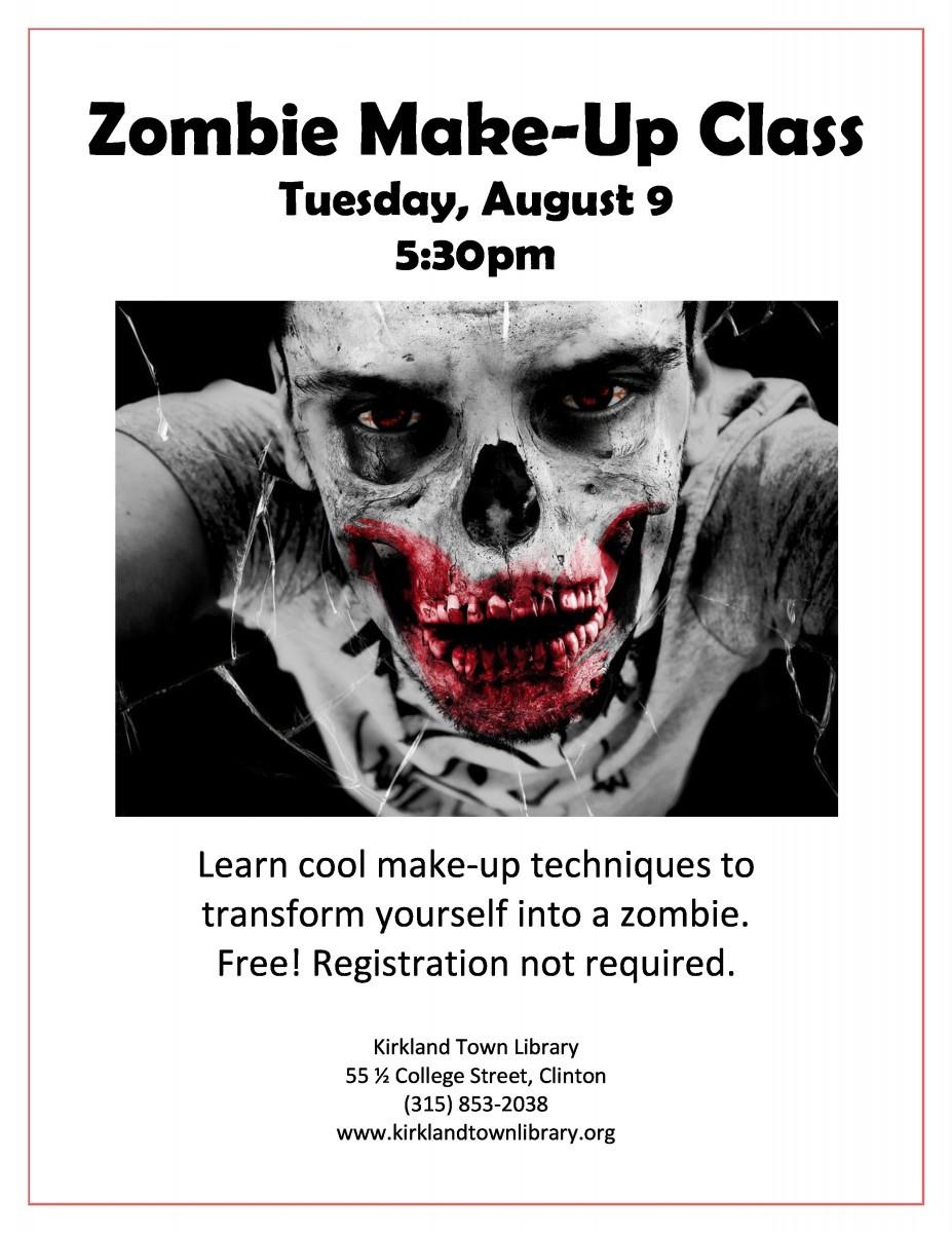 zombie make up class flyer