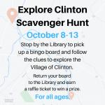 Explore Clinton Scavenger Hunt