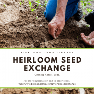Seed Exchange Opens April 1